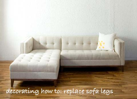 Decorating How To: Replace Your Sofa Legs   Good With Style By Emily  Anderson